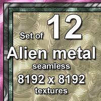 Alien Metal 12x Seamless Textures, set #1