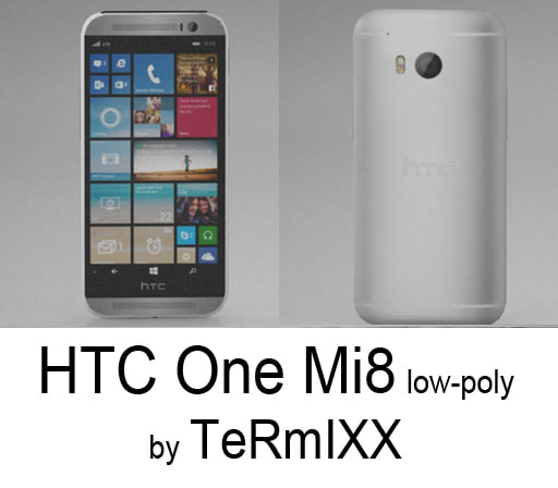 3d model htc mi8 mobile