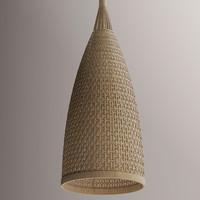 3d rattan lamp interior