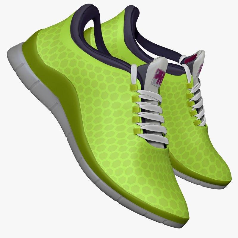 lime green sneaker obj