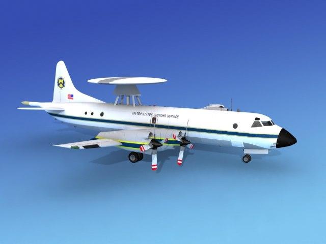 3d orion lockheed p-3 model