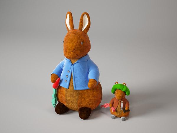 rrabit toy 3d model