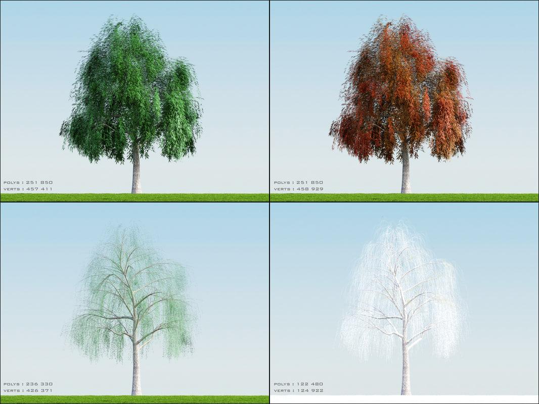 4 season tree willow001 obj