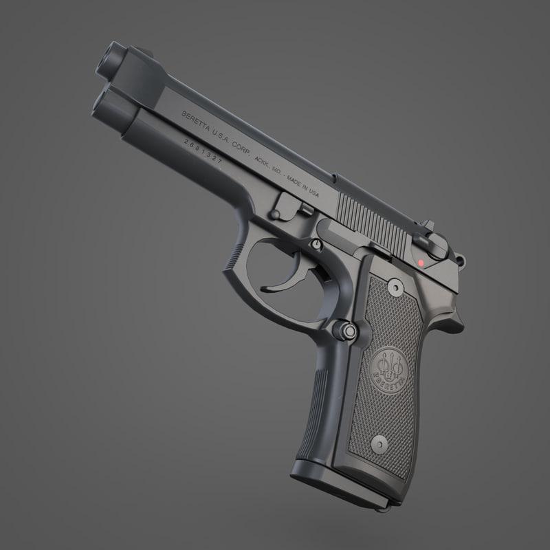 beretta m92fs pistol max