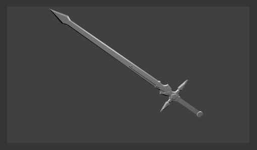 3d kirito s sword model