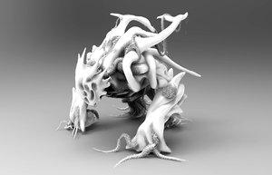 sculpted monster zbrush 3d model
