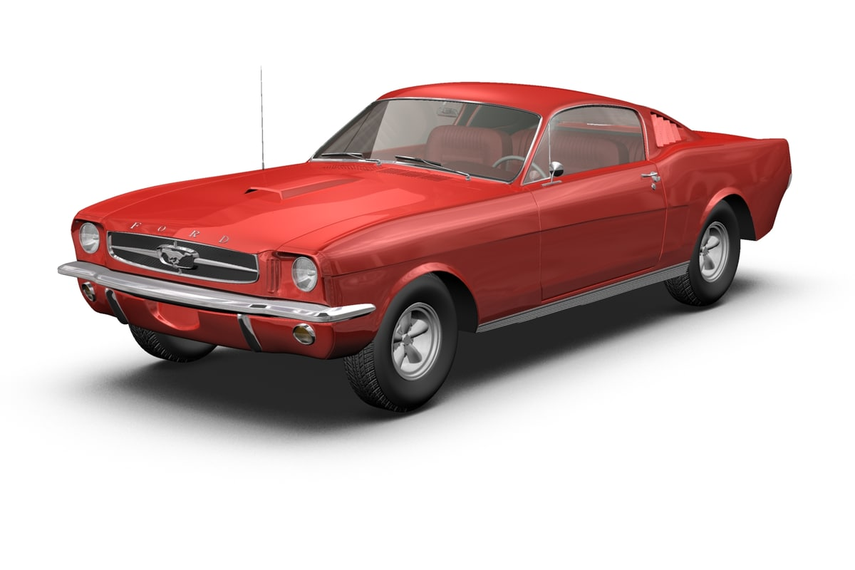 mustang fastback gt 3d model