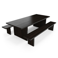 hudson ebonized solid wood table 3d max