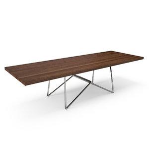 hudson renzo piano table 3d model
