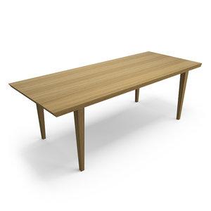 hudson palo alto table 3d max