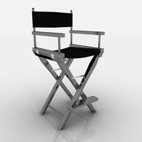 3d model of chair director steel
