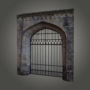 3d 3ds gothic castle gate