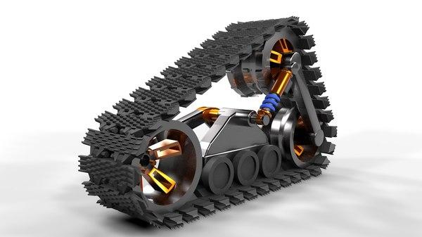 c4d snow tracks trax