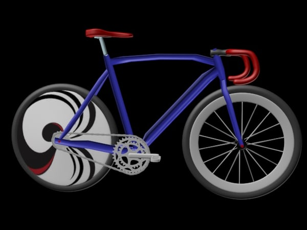 track bicycle 3d max