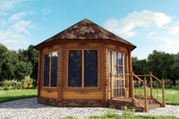 3d wooden summerhouse