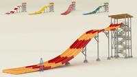 3d water slide fast model