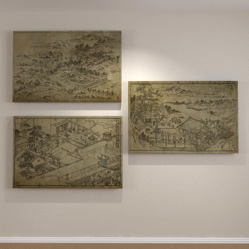 3ds max framed art wood