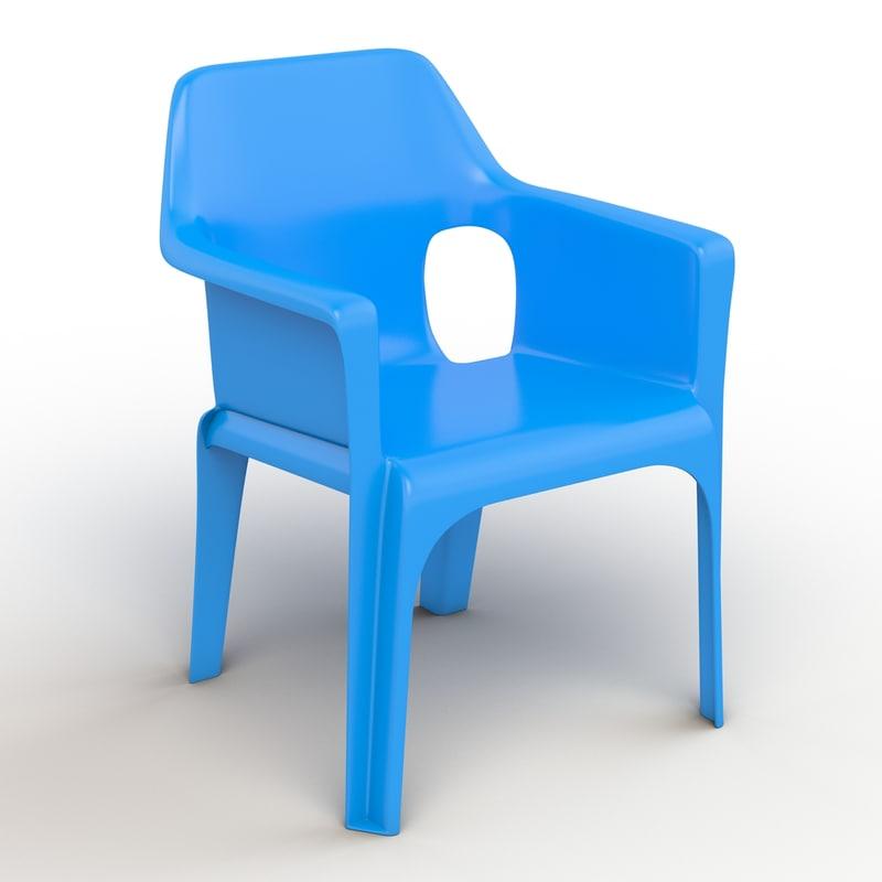 plastic chair obj