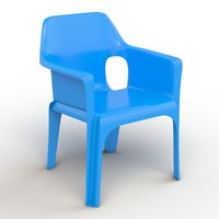 plastic chair obj