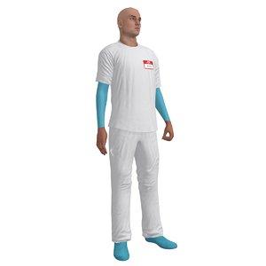 rigged male nurse 3d max