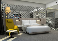 hotel room 3d model