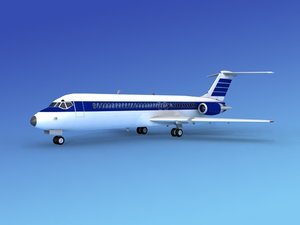 max dc-9 commercial airliner