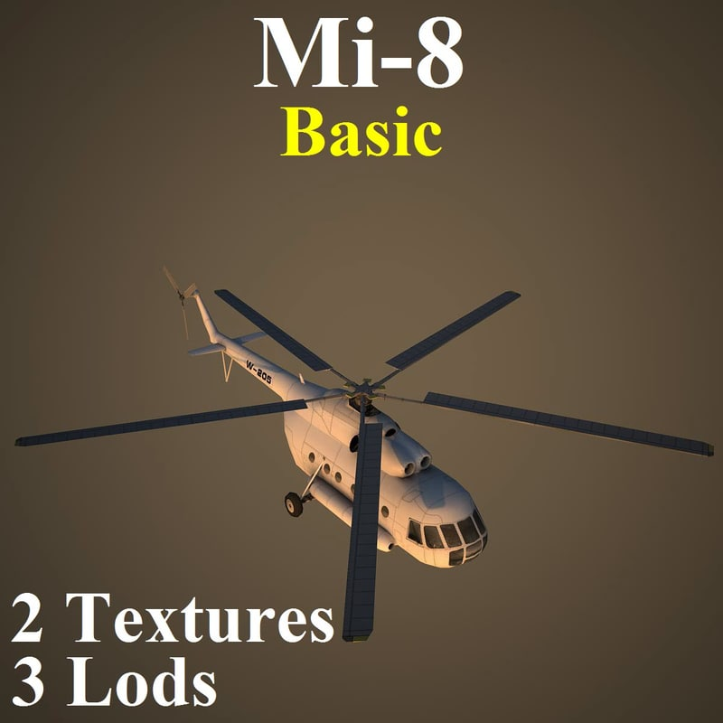 mil basic helicopter 3d max