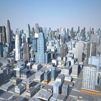 max cityscape scene highrise