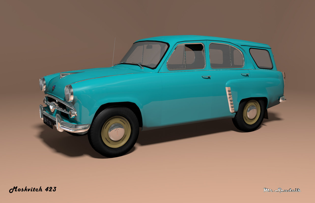 3ds mzma 423 moskvitch