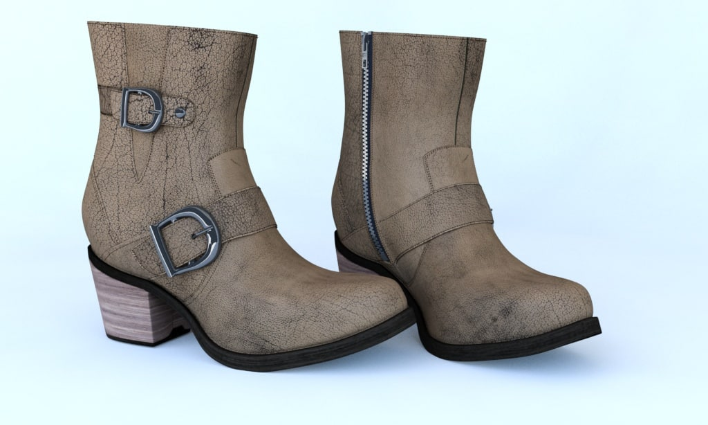 3d model women leather boots