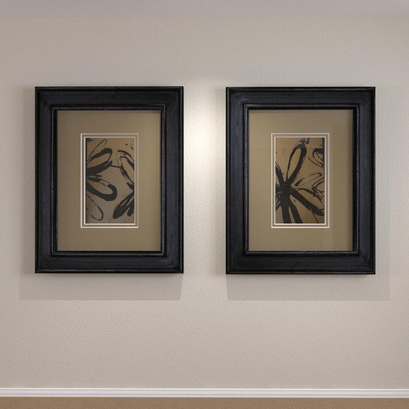 3d framed art distressed wood