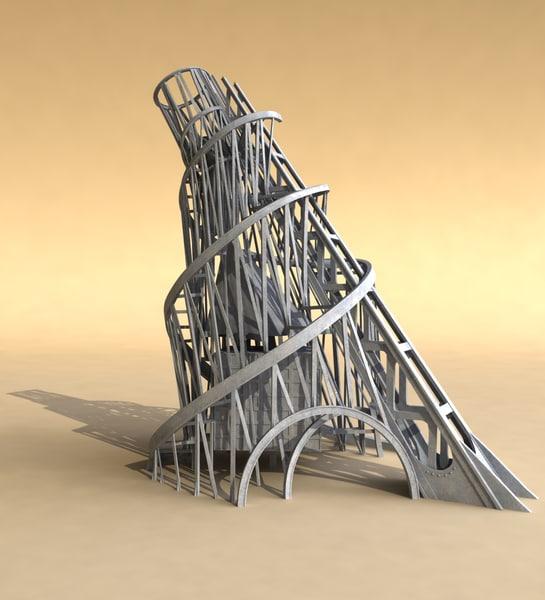 monument tower tatlin s 3d model
