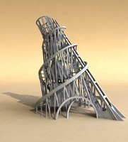 monument tower tatlin s 3d model