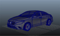 3d mercedes cla model