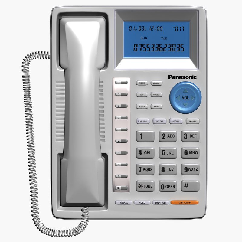 3d model of telephone set phone