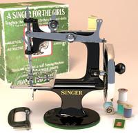 Antique toy sewing machine Singer