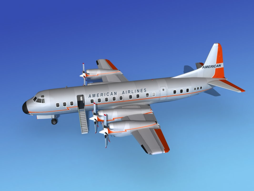 propellers electra airline lockheed 3d 3ds