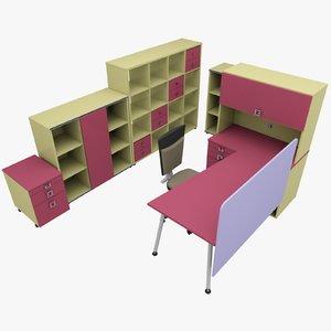 3dsmax rack office table