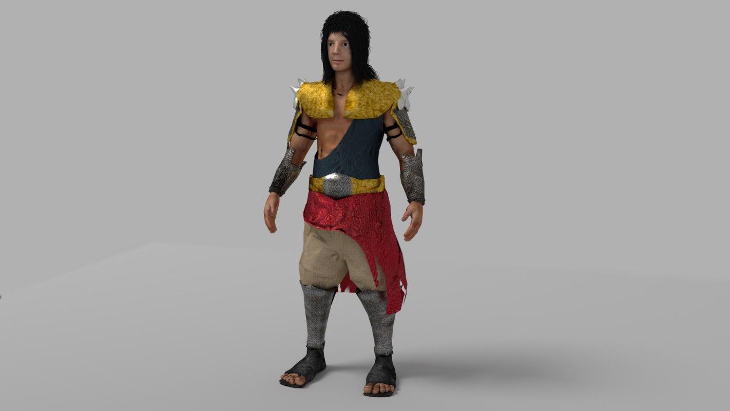 character armor 3d obj