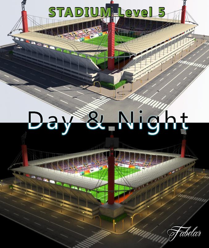 3d model of stadium level 5