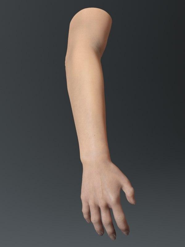 3d woman hand