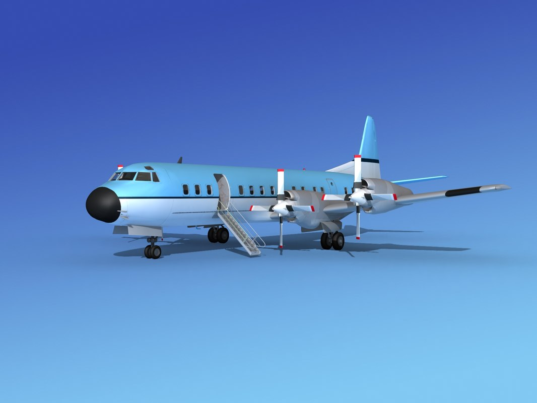 3d 3ds propellers electra lockheed
