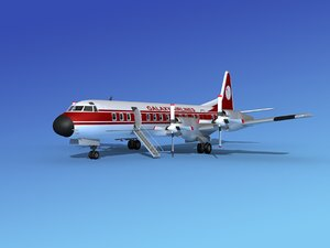 3d model of propellers electra airline lockheed