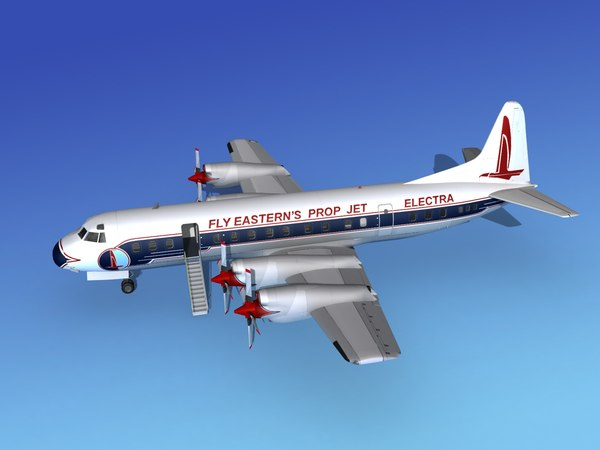 3d model propellers electra airline lockheed