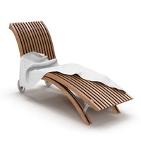 3d lounge chair wooden model
