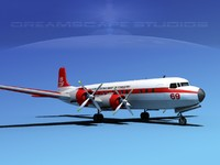 3d model of douglas dc-7c dc-7