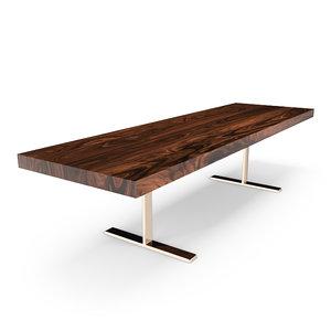 3d max hudson acacia table i-base