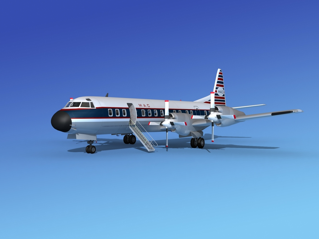 3d model of propellers electra lockheed