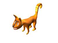 3d cat cartoon