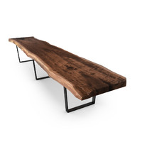 HUDSON CLARO WALNUT TABLE METAL BASE